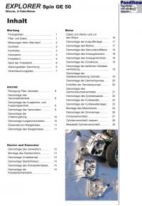 Reparaturanleitung RIS  Explorer Spin GE 50 Antrieb und Motor