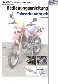 Reparaturanleitung RIS Fantic Caballero RC 50 Fahrerhandbuch