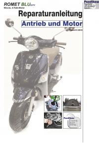 Reparaturanleitung RIS  Romet Blu City 50 4-Takt Antrieb und Motor