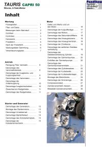 Reparaturanleitung RIS  Tauris Capri 50 (2T) Antrieb und Motor
