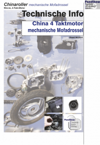 Mechanische Mofadrossel 4 Takt China-Roller